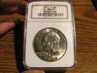 1977-D  CLAD EISENHOWER IKE $1 NGC MINT STATE 65