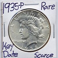 1935-P PEACE DOLLAR  HIGH GRADE DATE US MINT SILVER COIN  90