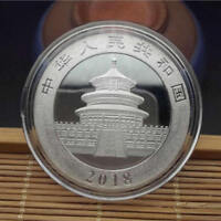 1PC SILVER PLATED PANDA COMMEMORATIVE COIN CHALLENGE COLLECTIBLE 40MM DIAMETER