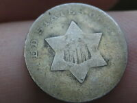 1851 1853 THREE 3 CENT SILVER TRIME  GOLDEN TONED