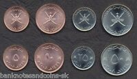 OMAN COMPLETE FULL COIN SET 5 10 25 50 BAISA 2008 UNC UNCIRCULATED LOT OF 4