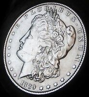 1889- MORGAN SILVER DOLLAR - ALMOST UNCIRCULATED - FAST SHIPPING - FAST DELI