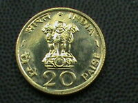 INDIA   20 PAISE   1970   B    UNC     $ 2.99  MAX  SHIPPING  IN  USA