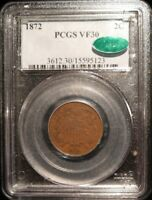1872 TWO CENT PIECE PCGS VF30 CAC KEY DATE  2C UNITED STATES 2 OBSOLETE COIN