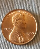 1969S LINCOLN ERROR CENT RPM MECHANICAL DIE HIGH MINT STATE