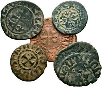 CILICIA ARMENIAN COINS LOT OF 5 AE