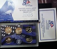 UNITED STATES 2005 MINT PROOF SET WITH COA JEST LIKE YOU GET IT FROM THE MINT