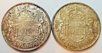 CANADA 1953 LARGE & SMALL DATE SET FIFTY CENTS ELIZABETH II KM 53
