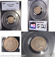 1884  10 CENTS CANADA  KM 3 .LOWEST MINTAGE  OF 150 000 FROM 1858 1901