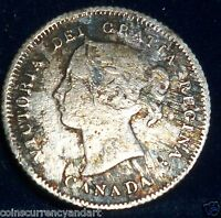 CANADA 1882 H FIVE CENTS