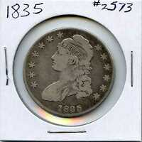 1835 50C CAPPED BUST SILVER HALF DOLLAR. CIRCULATED. LOT 2292