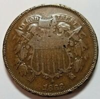 1868 TWO CENT  GOOD PLUS SHIPS FREE