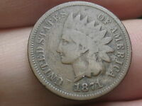 1871 INDIAN HEAD CENT PENNY, BOLD N, VG/FINE DETAILS