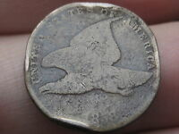 1858 FLYING EAGLE PENNY CENT- SMALL LETTERS, RIM BUMPS