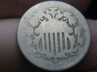 1867 SHIELD NICKEL 5 CENT PIECE- WITH RAYS