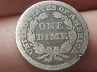 1856 SEATED LIBERTY SILVER DIME- LARGE DATE