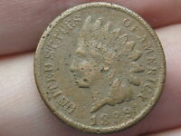 1889 INDIAN HEAD CENT PENNY, FINE/VF DETAILS, PARTIAL LIBERTY