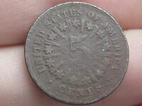 1866 SHIELD NICKEL 5 CENT PIECE WITH RAYS- METAL DETECTOR FIND?