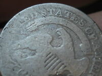1829 1837 CAPPED BUST HALF DIME  90  SILVER  LARGE 5C