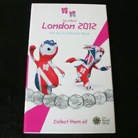 THE OFFICIAL OLYMPIC LONDON 2012 50P COINS SPORTS COLLECTION