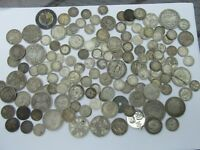 STERLING SILVER COINS PRE 1920 SCRAP OR BETTER 1690'S  1910'