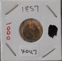 1857 H10C LIBERTY SEATED HALF DIME   NICE COIN FOR COLLECTORS   X047