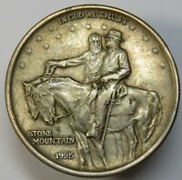 1925 STONE MOUNTAIN SILVER COMMEMORATIVE HALF DOLLAR US COIN ITEM 18952