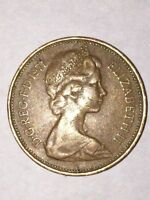 VERY  /CIRCULATED 1971 NEW PENCE 2C COIN