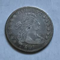 1796 DRAPED BUST SMALL EAGLE DIME - GREAT DETAILS, BUT HAS RIM ISSUES