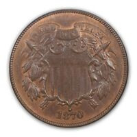 1870 2C TWO CENT PIECE NGC MINT STATE 66BN