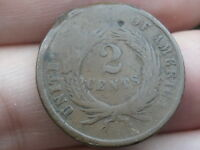 1864 TWO 2 CENT PIECE- LARGE MOTTO, GOOD/VG DETAILS