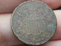 1864-1869 TWO 2 CENT PIECE- LARGE MOTTO, DUG? METAL DETECTOR FIND?