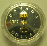 2007 PROOF $1 BABY RATTLE LOONIE CANADA COIN ONLY FROM SET SILVER GOLD