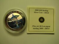 2008 PROOF $30 IMAX  GREAT WHITE SHARK  COIN&COA ONLY CANADA .925 SILVER THIRTY