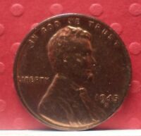 1945 S  LINCOLN WHEAT  1 PENNY KM A 132 A-214