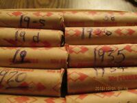 ROLL 1951 D  LINCOLN  WHEAT CENTS. I SORTED OUT THE DAMAGE & SPOTTED COINS. F/EXTRA FINE