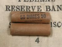 ONE   MERCURY BARBER DIME ROLL 50 COINS 1916 1945 PDS