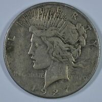 1927 S PEACE SILVER DOLLAR - CIRCULATED SEE STORE FOR DISCOUNTS BR51