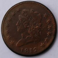 1812 CLASSIC HEAD LARGE CENT, LARGE DATE, S-289, R1, EXTRA FINE