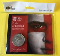 THE WORLD CUP THE PRIDE OF ENGLAND 2018 UK 5 FIVE POUND COIN BU REF.833