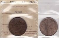 1895 ICCS MS60 1 CENT BROWN CANADA ONE PENNY LARGE