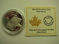 2014 PROOF $5 ALICE MUNRO 2013 NOBEL LITERATURE PRIZE WINNER COIN&COA ONLY .9999