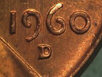 1960 D RPM 002 STAGE A LINCOLN CENT REPUNCHED MINT MARK