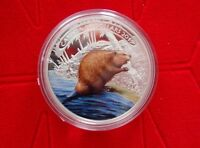 2015 CANADA $20 BEAVER AT WORK COLORIZED FINE 99.99  SILVER COIN   1OZ