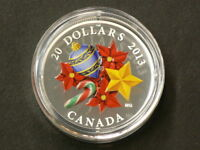 2013 CANADA $20 CANDY CANE  MURANO GLASS WITH COA NO TAX 1582