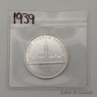 1939 CANADA SILVER $1 DOLLAR COIN   SEALED IN ACID FREE PACK