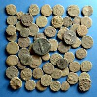 LOT OF 60 UNCLEANED AE1 AE2 AE3 AE4 ROMAN BRONZE COINS