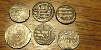 LOT OF 6 SILVER ISLAMIC COINS   FREE U.S. S/H