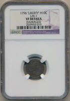 1796 LIKERTY HALF DIME. LM-1 NGC VF DETAILS.