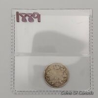 1889 CANADA SILVER 5 CENTS COIN   SEALED IN ACID FREE PACKAG
